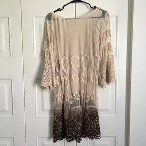 Lilly Mason Dresses - 5/$25 Sheer Embroidered Dress